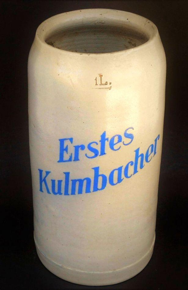 Alter hingedrehter Brauerei Krug um 1900