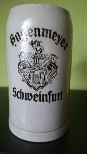 1 Liter Steinkrug aus den 1930 er Jahren