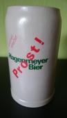 1 Liter Steinkrug aus den 1970 er Jahren mit Hersteller Kennzeichnung.
